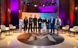 Els representants dels monuments finalistes amb Ivan Medina, Candela Figueras i Roger de Gràcia