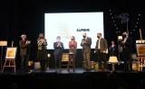 Imatge de grup de la gala d'entrega de la vuitena edició dels Premis Martí Gasull