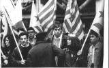 Manifestació contra la visita del príncep Felip de Borbó a Girona (1990)