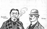 Caricatura de Charles Arrow publicada a 'L'Esquella de la Torratxa'