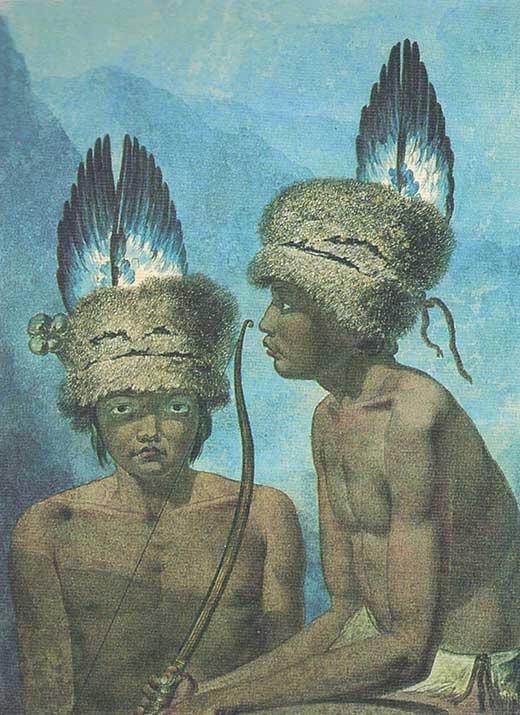 Retrat de 1818 que mostra un indi de Carolina del Nord, als Estats Units