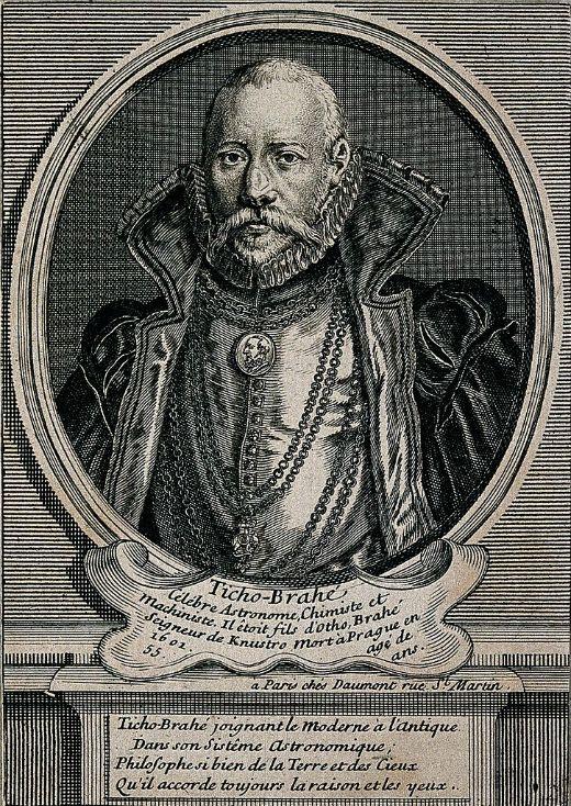 Gravat de Tycho Brahe -  Wellcome ImagesV0000744 / Fæ / Wikimedia Commons