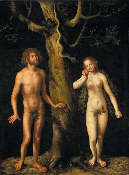 'Adam i Eva', del pintor alemany Lucas Cranach el Vell. Quadre pintat entre el 1508 i el 1512. -  Lucas Cranach el Vell / Vert / Wikimedia Commons