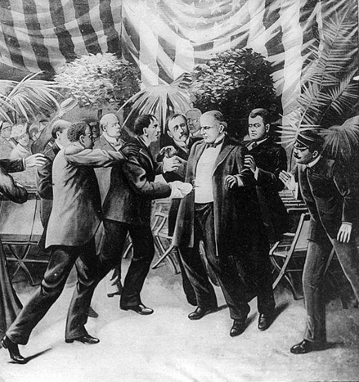Assassinat de William McKinley a mans de Leon Czolgosz. 6 de setembre del 1901 -  T. Dart Walker / Wikimedia commons