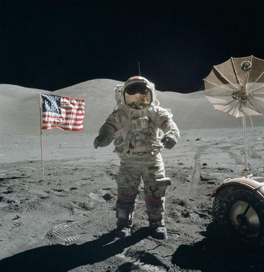Neil Armstrong a la Lluna -  WikiImages / Pixabay