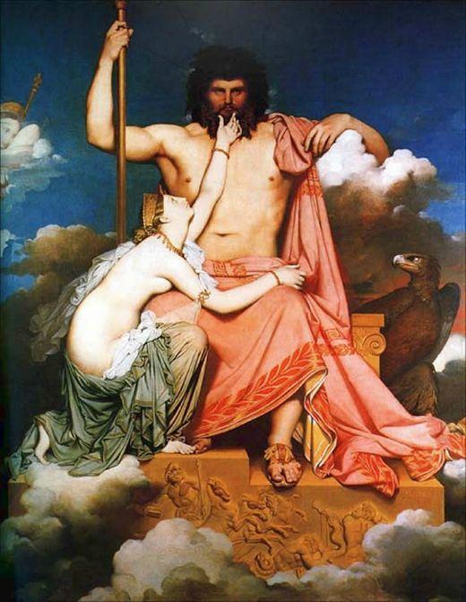 Zeus i Tetis (1811) -  Jean Auguste Dominique Ingres / Wikimedia commons
