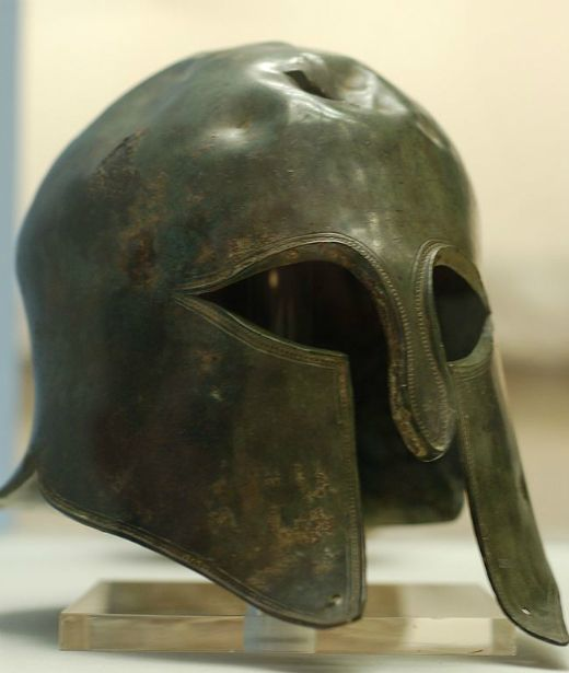 Casc de soldat espartà exposat al British Museum de Londres -  John Antoni / Wikimedia commons