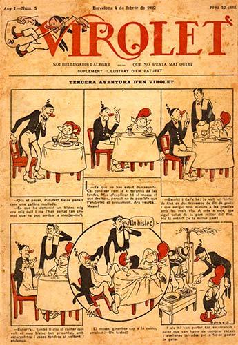 El número 5 de la revista 'Virolet', amb una historieta d'Opisso