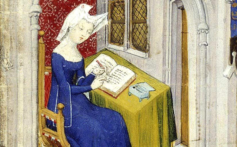 Com la poeta, filòsofa i protofeminista Crhistine de Pisan (a la imatge) Duoda va dedicar moltes hores de la seva vida a l'escriptura