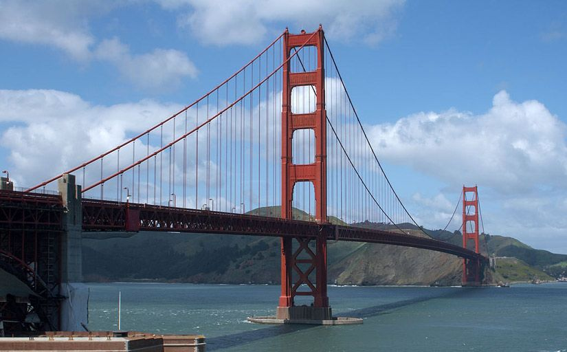 El Golden Gate -  Jon Sullivan / Wikimedia Commons