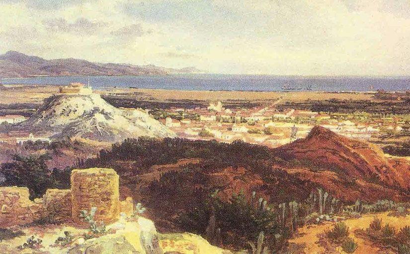 Vista de Cumaná sobre el castell vell(1843) -  Ferdinand Bellermann / Wikimedia Commons