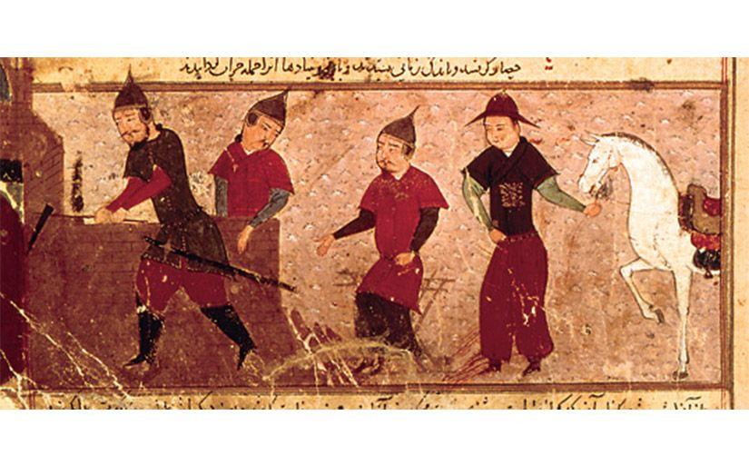 Genguis Kan i tres dels seus fills