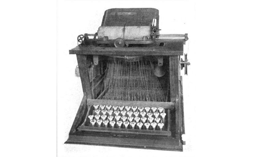 Màquina d'escriure de Sholes -  Wikimedia Commons