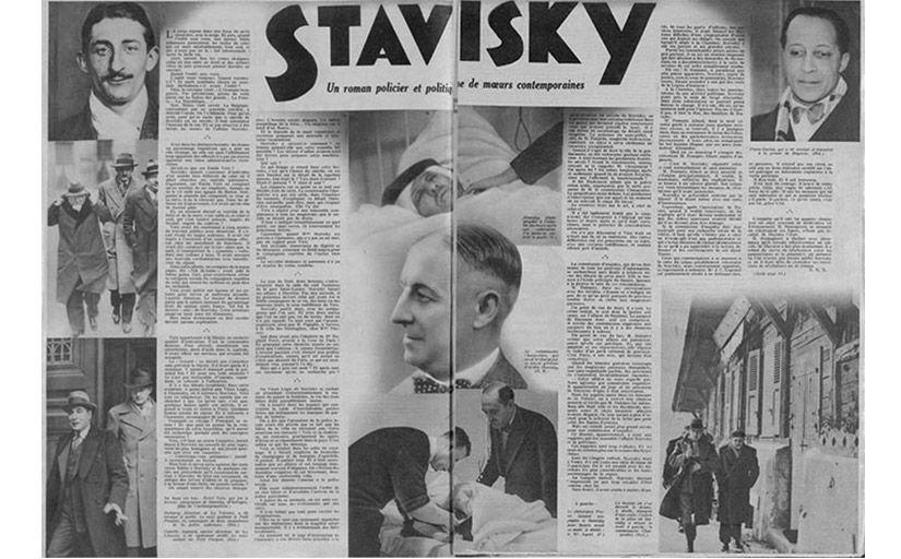 """Publicació del 1934 del 'Police Magazine' sobre """"el 'suïcidi de Stavisky<br /> -  Wikimedia Commons"""