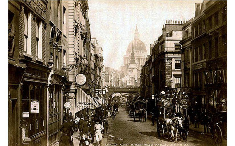 Fleet Street de Londres a finals segle XIX -  Wikimedia Commons