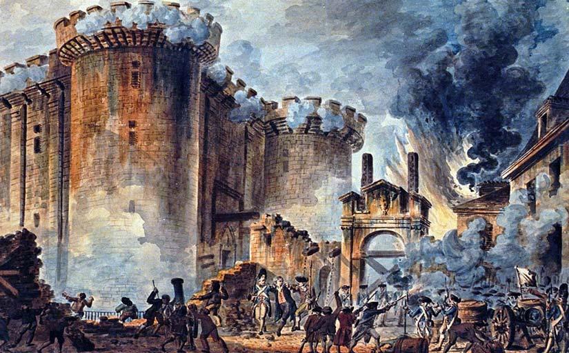L'immobilismedels privilegiatsfrancesos vaactivar les classespopulars, víctimesdels abusos, que esvan revoltar i vanassaltar la Bastilla,el 14 de juliol del1789. -  Jean-Pierre Houël / Wikimedia Commons