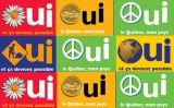 Cartells en favor del sí al referèndum del Quebec