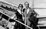 Walt Disney i la seva esposa a l'aeroport de Copenhaguen -  SAS Scandinavian Airlines / Wikimedia Commons