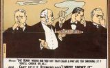 Caricatura que mostra uns polítics britànics que es veuen obligats a respirar el fum d'un cigar que representa el 'Home Rule' -  Wikimedia Commons