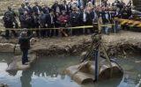 En un primer moment es va pensar que l'estàtua corresponia a Ramsès II -  Hamada Elrasam / VOA News / Wikimedia Commons