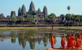 Monjos budistes a Angkor Vat (Cambodja) -  Sam Garza / Wikimedia commons
