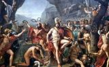 Leònides, rei d'Esparta, a la batalla de les Termòpiles (1814) -  Jacques-Louis David