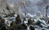 Expedició de Vitus Bering desfeta per una tempesta a les illes Aleutianes (1741) -  Autor desconegut / Wikimedia commons