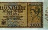 Bitllet de 100 bilions de marcs alemanys imprès el 1924 -  Reichsbank / Regi51 / Wikimedia Commons