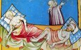 Miniatura de la bíblia de Toggenburg, a Suïssa, on apareixen afectats per la Pesta Negra (1411) -  Fingalo / Wikimedia Commons