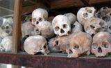Cranis de víctimes dels khmers rojos -  Wikimedia Commons