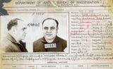 La fitxa policial d'Al Capone -  Wikimedia Commons