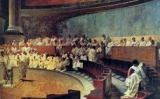 El fresc 'Ciceró arenga Cattilina', de Cesare Maccari