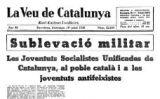 Portada de 'La Veu de Catalunya'