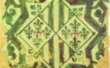 Armes de Margarida de Prades en un taulell de ceràmica del segle XV