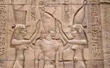 Decoracions del temple d'Horus, a Edfú