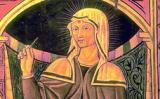 Una il·lustració medieval de Santa Rita de Cascia
