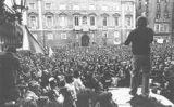 Mobilització de l'Assemblea de Catalunya a la plaça Sant Jaume de Barcelona
