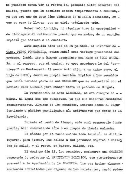 Segona pàgina de l'Assemblea al Monestir de Montserrat