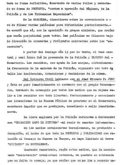 Tercera pàgina de l'Assemblea al Monestir de Montserrat