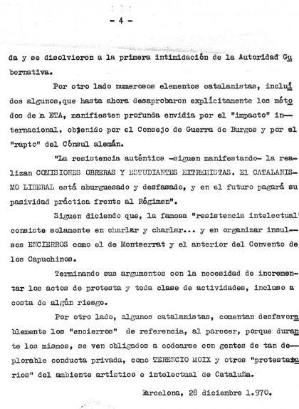 Quarta pàgina de l'Assemblea al Monestir de Montserrat