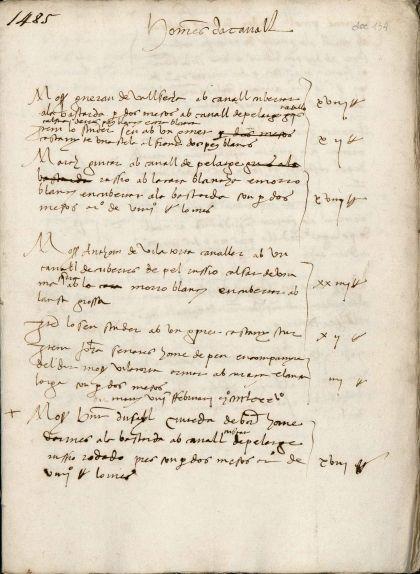 Primer foli del manuscrit