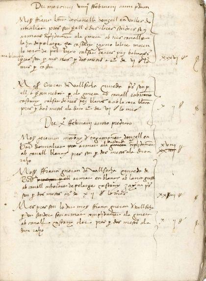 Segon foli del manuscrit