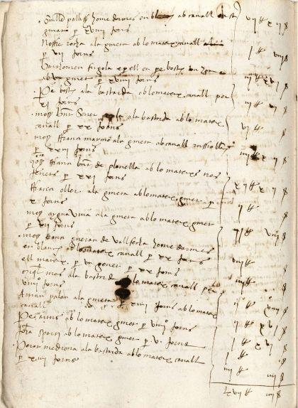 Novè foli del manuscrit