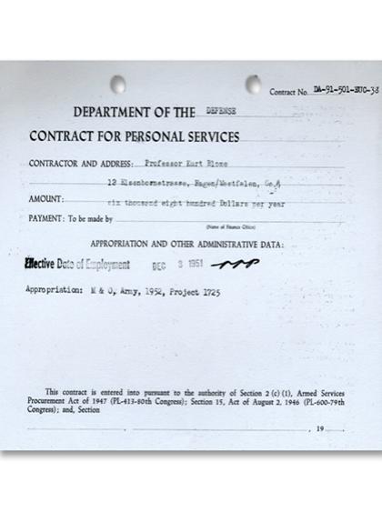Contracte de Kurt Blome