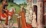 Carlemany en una trobada prop de Roma