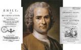 Muntatge de Rousseau amb les obres 'Émile' i  'El contracte social'