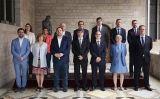 Carles Puigdemont amb els membres del Govern el 4 de juliol de 2017