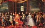 Quadre de Laumosnier en què apareixen els presents a la trobada de l'illa dels Faisans en què es va signar el tractat dels Pirineus