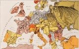 Mapa satíric d'Europa del 1914