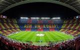 El Camp Nou en un partit de Champions